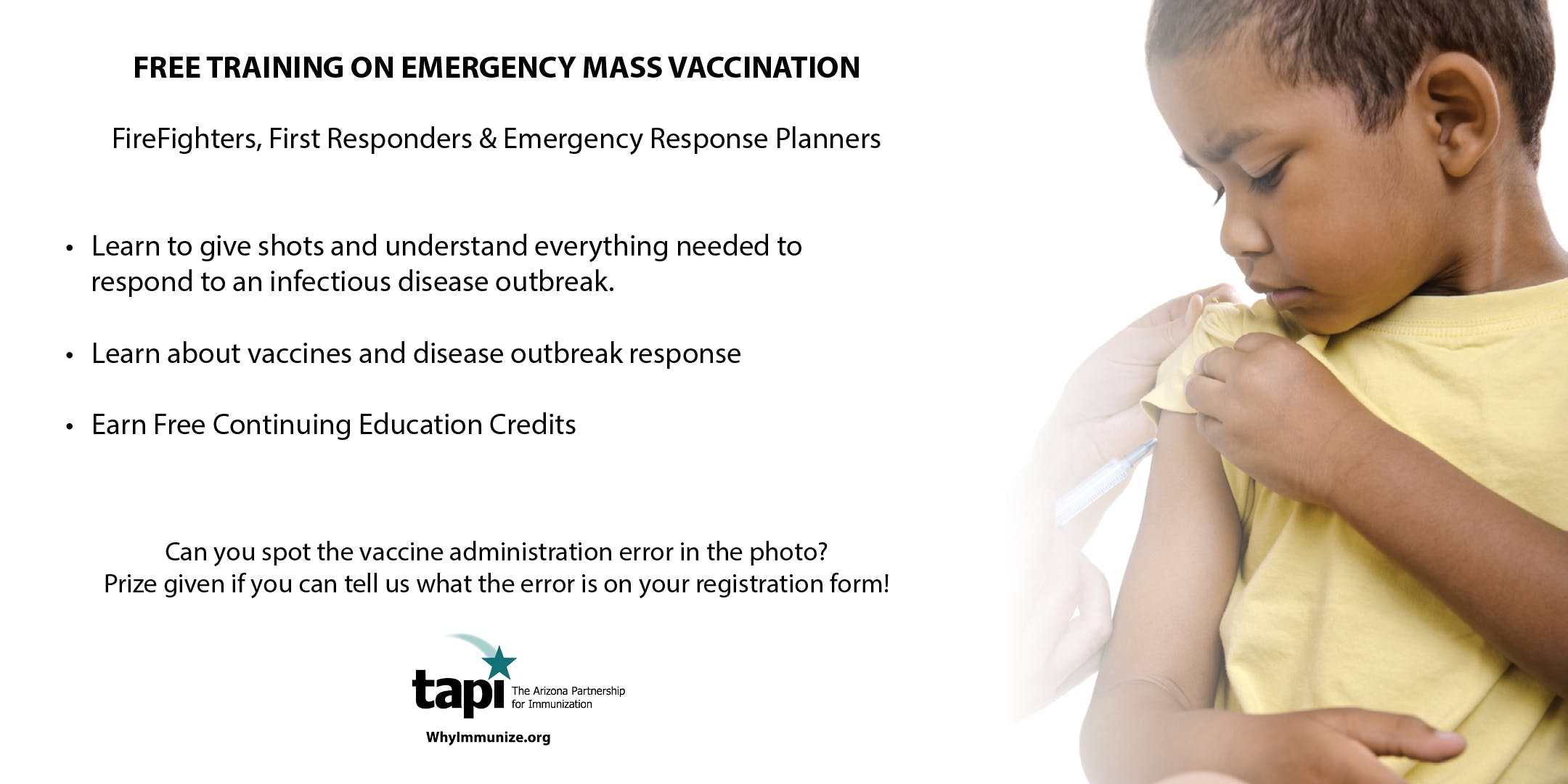 Free Training on Emergency Mass Vaccination