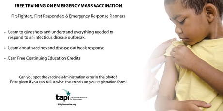 Free Training on Emergency Mass Vaccination tickets