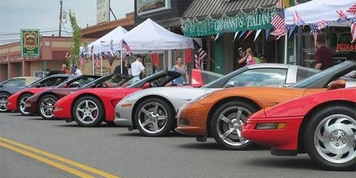 Corvettes on the Square in Belton Texas