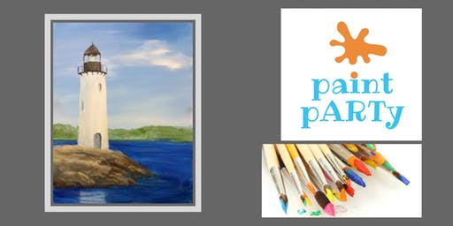 Paint'N'Sip Canvas - Lighthouse on the Rocks- $35pp