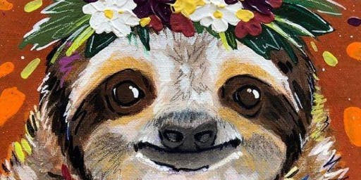 """""""Slow Motion for 'ya"""" Sloth Themed Paint and Sip Class"""