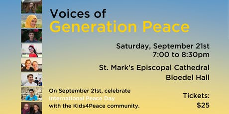 Voices of Generation Peace 2019 (Kids4Peace Seattle) tickets