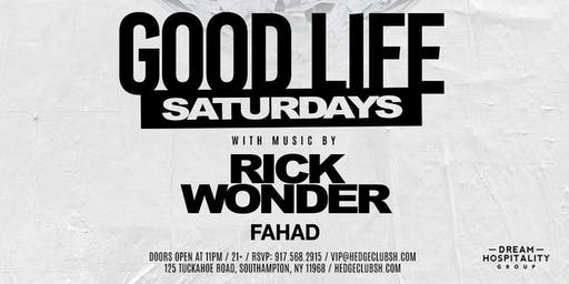 Good Life Saturdays at Hedge Club Southhampton August 24th 2019