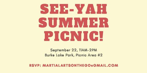 Martial Arts on the Go See-Ya Summer Picnic