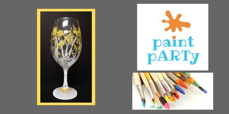 All Ages Paint Party on Glasses - Birch Tree - $35pp tickets
