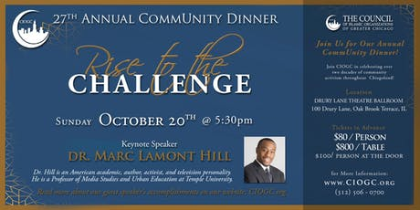 27th Annual CommUnity Dinner: RISE to the Challenge tickets