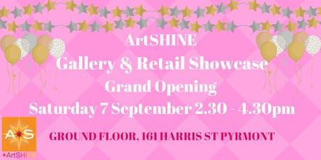 Celebrating ArtSHINE  newest galleries 2019 launch: PYRMONT tickets