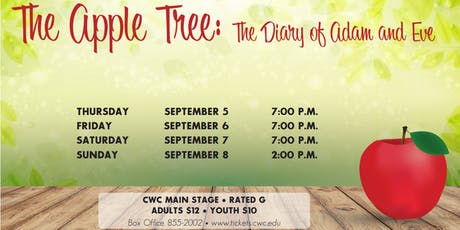 The Apple Tree: The Diary of Adam & Eve tickets