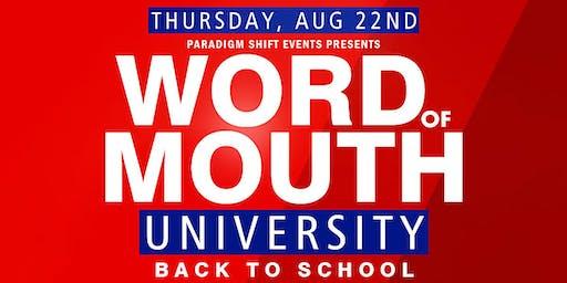 PSE presents: WOM University • Back To School