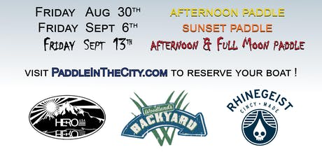 Scioto Series- Sunset Paddle & Full Moon tickets