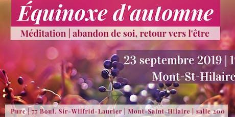 Équinoxe | Mont St-Hilaire | 23 septembre 19h30 billets
