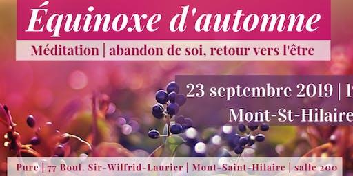 Équinoxe | Mont St-Hilaire | 23 septembre 19h30