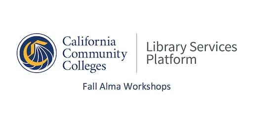 Sacramento Alma Workshop - Technical Services