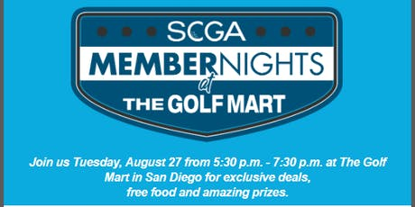 SCGA Member Nights: The Golf Mart - San Diego tickets