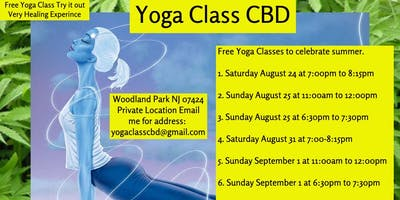 Free Outdoor Yoga Class CBD Woodland Park NJ Sunday 8/25 at 11:00am to 12:00pm