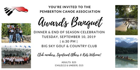 Pemberton Canoe Awards Banquet Dinner tickets