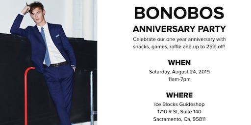 BONOBOS MEN'S CLOTHING 1-YEAR ANNIVERSARY