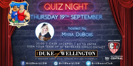 BritBears September Quiz Night with Myra DuBois tickets