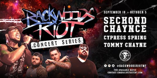 Backwoods Riot Concert Series in Houston, TX ALL AGES!