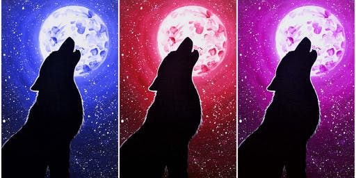 """Fundraiser, Boy Scouts of America's Mad River District, painting  """"Howl"""""""