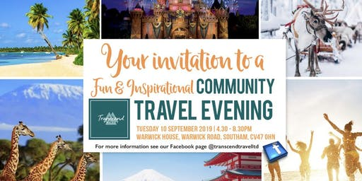 "Beat the ""Back to School Blues"" with a Fun & Inspirational Community Travel Evening!"
