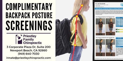 Back to School: Backpack Posture Screening