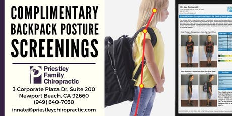 Back to School: Backpack Posture Screening tickets