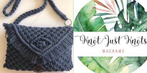 #imadeitmyself  -  macrame purse with Knot Just Knots Macrame