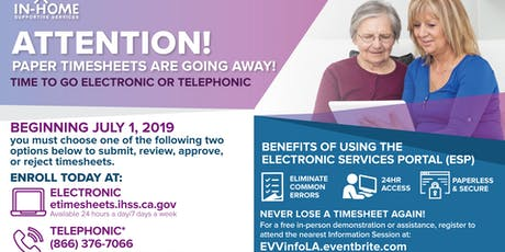 Electronic Visit Verification (EVV) Information Session tickets