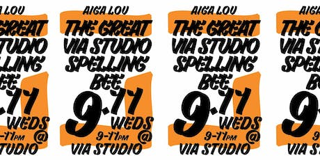 AIGALou Design Week 19: The Great Via Studio Spelling Bee tickets