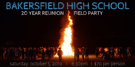 Bakersfield High School Class of '99 Reunion tickets