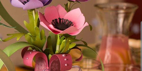 Create a papercraft flowers and vase tickets