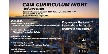 CAIA: INDUSTRY NIGHT - Alternative Investments tickets