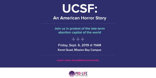Protest UCSF: An American Horror Story