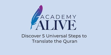 Perth  Discover 5 Universal Steps to Translate the Quran Afternoon tickets