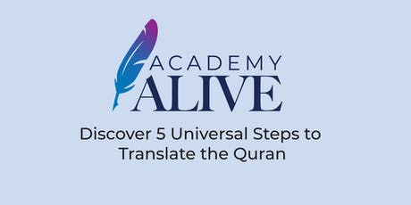 Canberra Discover 5 Universal Steps to Translate the Quran tickets