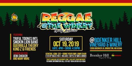 Reggae @ The Winery tickets