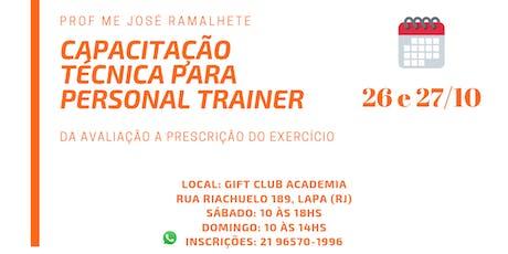 Capacitação Técnica para Personal Trainer ingressos