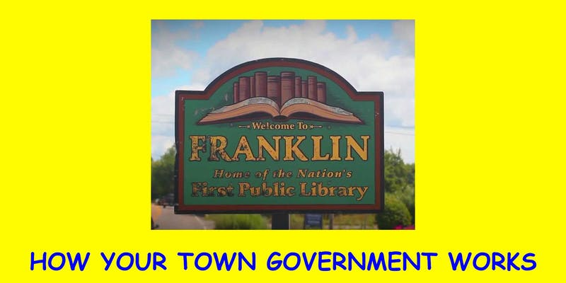 """How Your Town Government Works"" program is set for Weds, Sep. 25"
