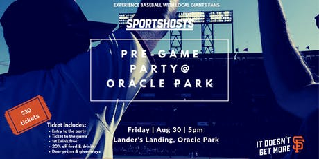 Giants Pre-Game Party for fans and newbies tickets