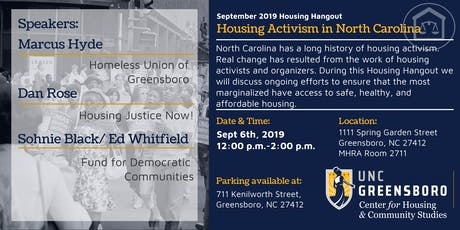 Sept Housing Hangout - Housing Activism in North Carolina tickets
