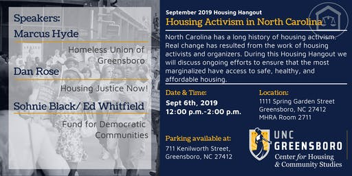 Sept Housing Hangout - Housing Activism in North Carolina