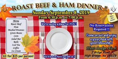Roast Beef and Ham Dinner