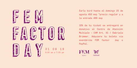 FEM factor day boletos