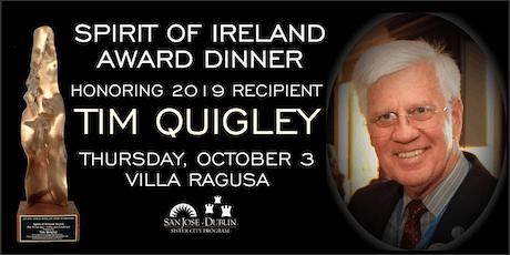 Spirit of Ireland Award Dinner in Honor of Tim Quigley tickets