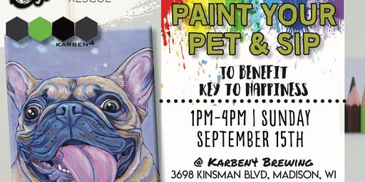 Paint and Pet and Sip to Benefit a Key to Happiness