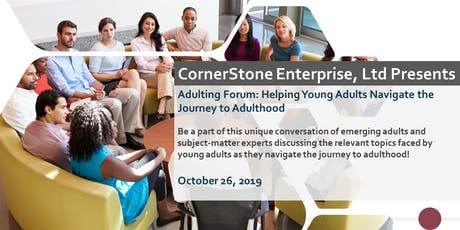 CornerStone - Forum: Helping Young Adults Navigate the Journey to Adulthood tickets