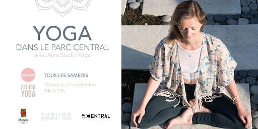 Yoga au parc Central