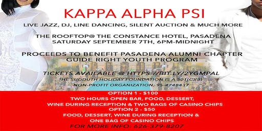 The Brothers of Kappa Alpha Psi, Pasadena Alumni Chapter presents 1st Annual White Linen-Casino Night Out