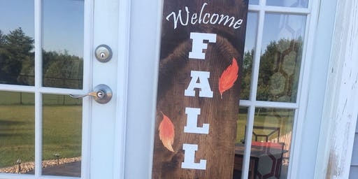 Fall Leaning Porch Sign